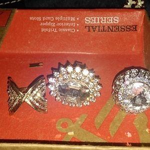 3 female  rings designer jewelry